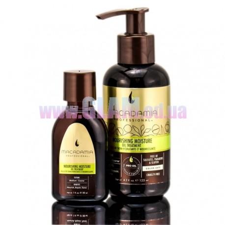 Macadamia Nourishing Moisture Oil Treatment – шелковое  масло с эффектом увлажнения для волос
