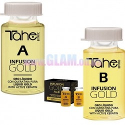 Tahe Infusion Gold A+B - восстановление волос с жидким кератином